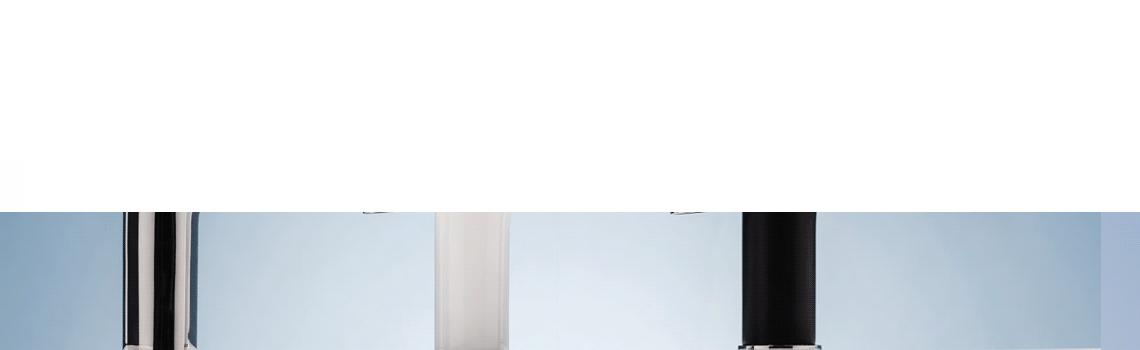 Monomando lavabo edfu. Disponible en tres acabados actuales, cromado, cromo-blanco y cromo negro.De formas redondeadas con un marcado estilo moderno.