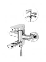 Monomando bañera Menfis cromo brillo. Una grifería de baño sencilla y funcional pero con un diseño verdaderamente increíble.