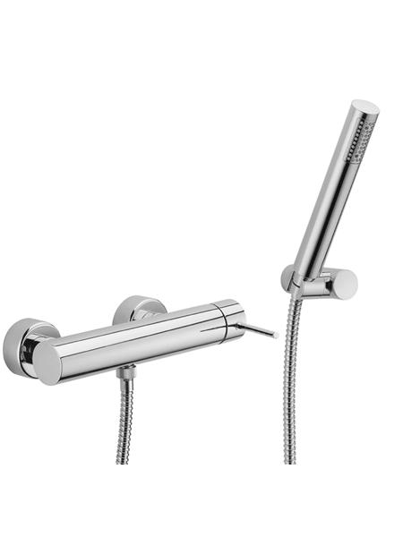Monomando ducha Spilo Up design by Fima italia. Una grifería de diseño curvo muy versatil y elegante del prestigioso fabricante italiano Fima