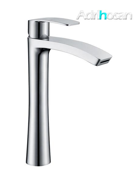 Monomando lavabo alto Dendera cromo brillo