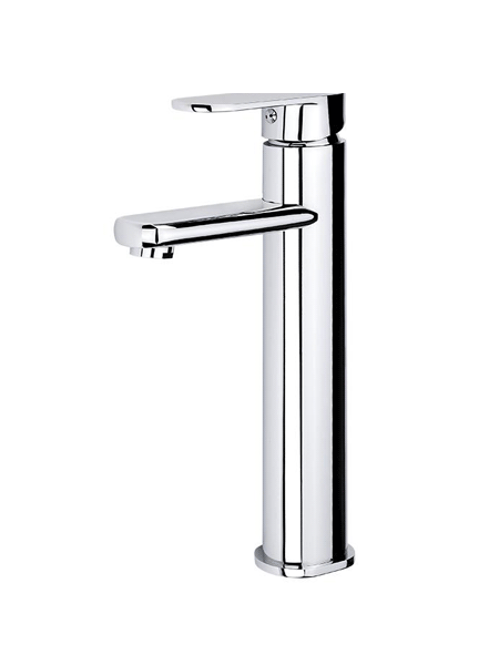 Monomando lavabo alto Menfis cromo brillo. Una grifería de baño sencilla y funcional pero con un diseño verdaderamente increíble.