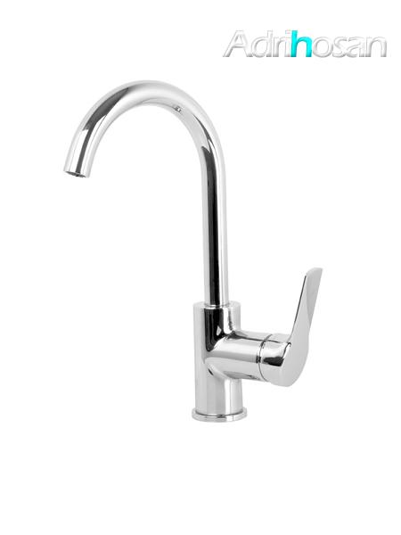 Monomando lavabo caño curvo Serie 4 cromo design by Fima italia