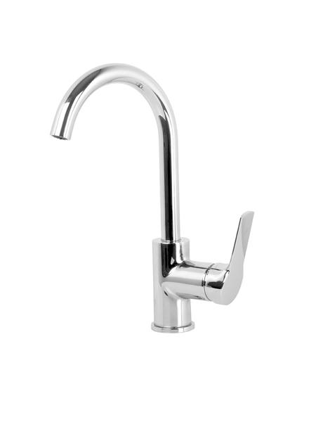 Monomando lavabo caño curvo Serie 4 cromo design by Fima italia. Grifo monomando fabricado con toda la calidad italiana, sencillez y funcionalidad italiana.