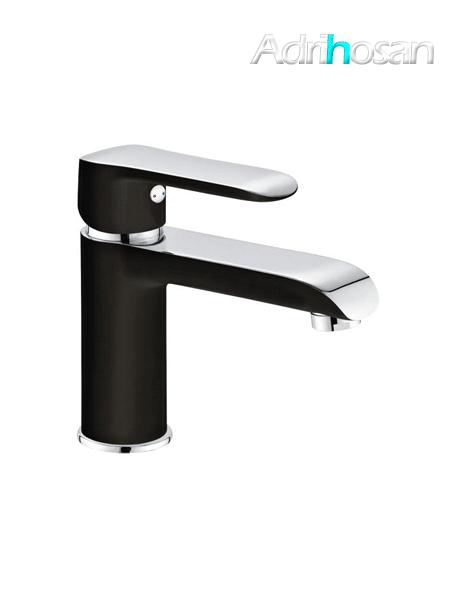 Monomando lavabo Edfu cromo-blanco-negro brillo