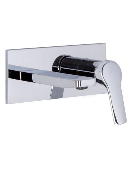 Monomando lavabo empotrado Spot design by Fima italia. Una grifería empotrada para lavabo con formas rectangulares y estilizadas.