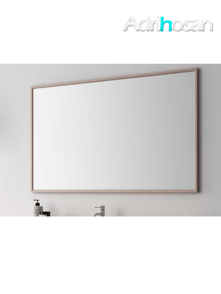 Espejo de baño enmarcado bloc de Fiora 720 mm de altura.