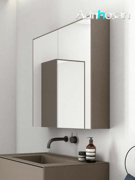 Espejo camerino de baño bloc de Fiora 710 mm de altura.