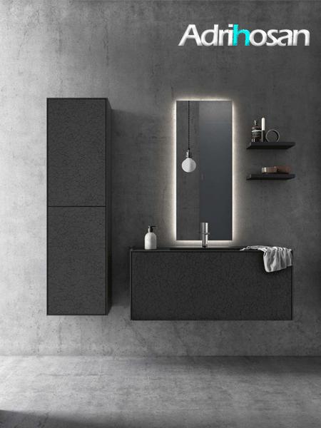 Mueble de baño suspendido bloc de Fiora 800 x 484 x 450 cm