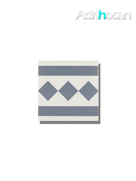 Pavimento imitación hidráulico Antigua azul cenefa 20x20 cm (pieza)