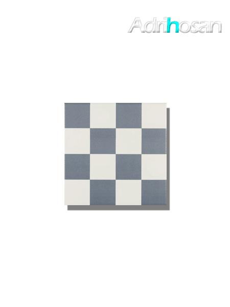 Pavimento imitación hidráulico Antigua azul chess 20x20 cm (1 m2/cj)