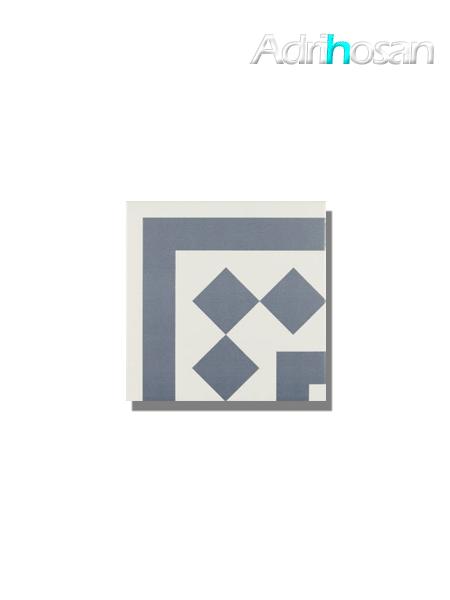 Pavimento imitación hidráulico Antigua azul esquina 20x20 cm (pieza)