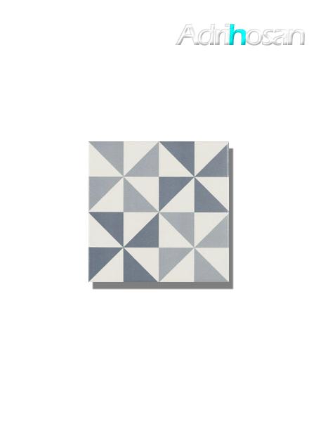 Pavimento imitación hidráulico Antigua azul triangulo 20x20 cm (1 m2/cj)