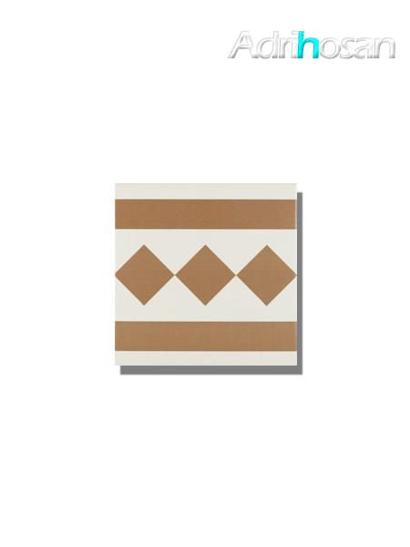 Pavimento imitación hidráulico Antigua beige cenefa 20x20 cm (pieza)