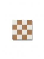 Pavimento imitación hidráulico Antigua beige chess 20x20 cm. Diseños del pasado con tecnología del presente, azulejo para paredes y suelos vintage.