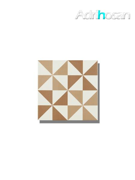 Pavimento imitación hidráulico Antigua triangulo beige 20x20 cm (1 m2/cj)