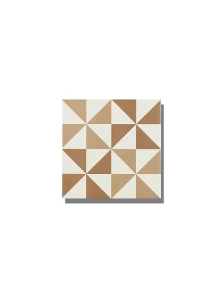 Pavimento imitación hidráulico Antigua beige triangulo 20x20 cm. Diseños del pasado con tecnología del presente, azulejo para paredes y suelos vintage.