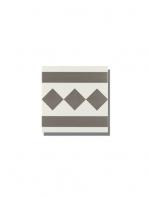 Pavimento imitación hidráulico Antigua gris cenefa 20x20 cm. Diseños del pasado con tecnología del presente, azulejo para paredes y suelos vintage.