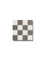 Pavimento imitación hidráulico Antigua gris chess 20x20 cm. Diseños del pasado con tecnología del presente, azulejo para paredes y suelos vintage.