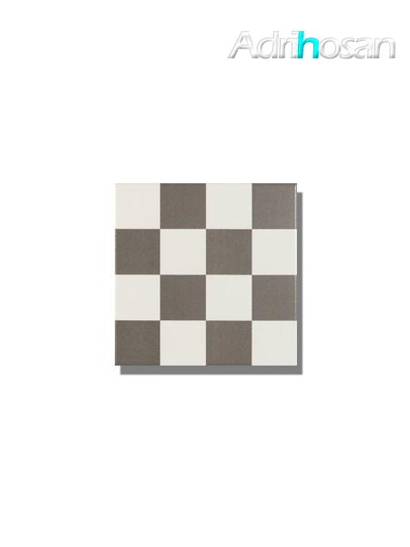 Pavimento imitación hidráulico Antigua chess gris 20x20 cm (1 m2/cj)
