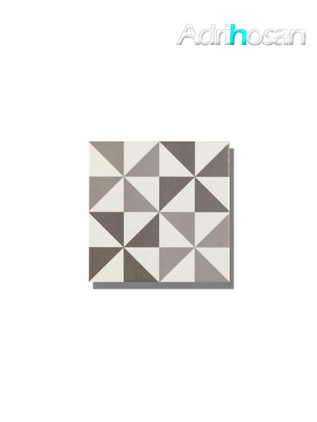 Pavimento imitación hidráulico Antigua triangulo gris 20x20 cm (1 m2/cj)