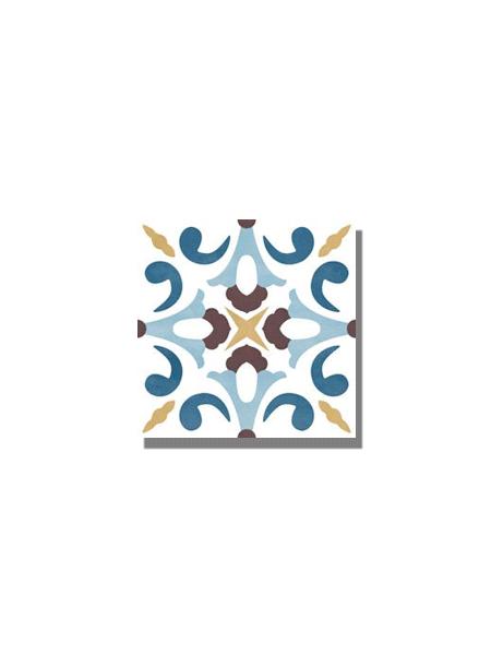Pavimento imitación hidráulico barraca alcazaba 20x20 cm. Diseños del pasado con tecnología del presente, azulejo para paredes y suelos vintage.