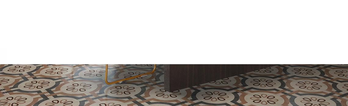 Pavimento imitación hidráulico barraca alhama 20x20 cm. Diseños del pasado con tecnología del presente, azulejo para paredes y suelos vintage.
