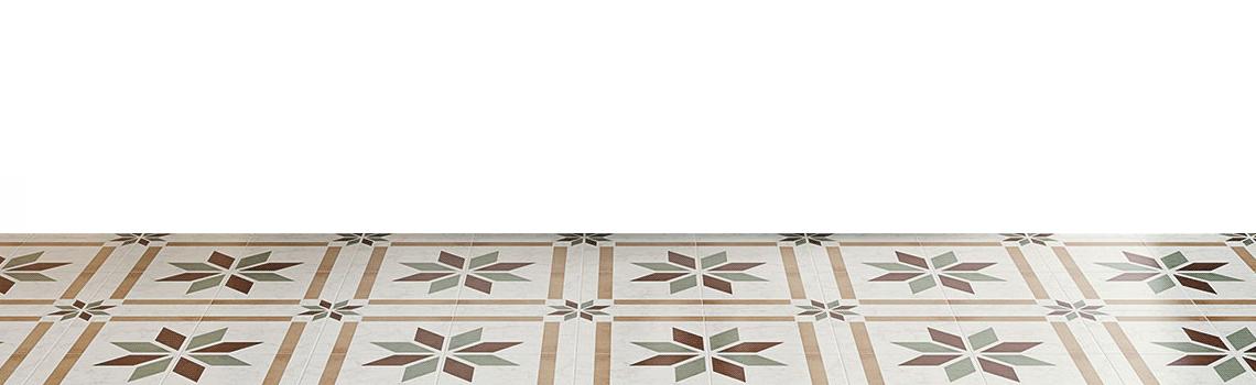 Pavimento imitación hidráulico barraca castril 20x20 cm. Diseños del pasado con tecnología del presente, azulejo para paredes y suelos vintage.