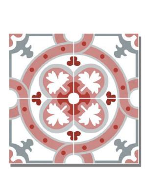 Pavimento imitación hidráulico barraca cosmos 20x20 cm. Diseños del pasado con tecnología del presente, azulejo para paredes y suelos vintage.