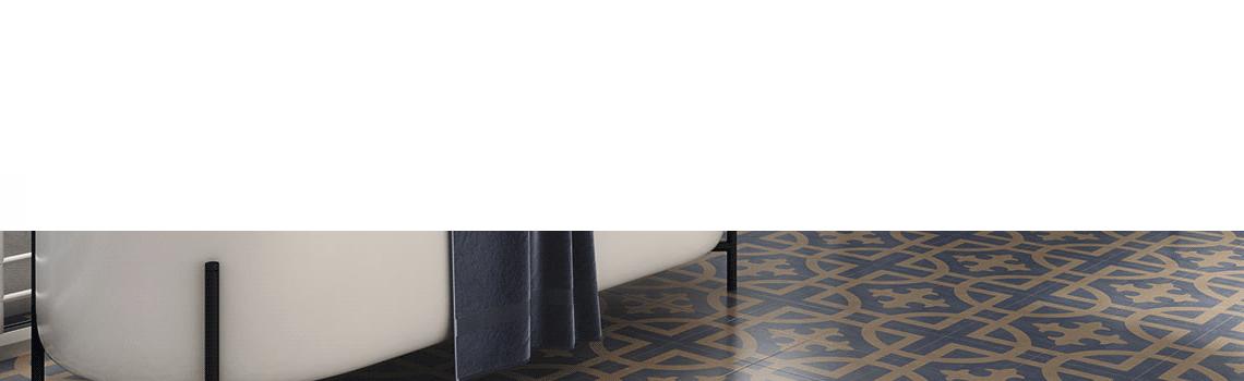 Pavimento imitación hidráulico barraca Montoro 20x20 cm. Diseños del pasado con tecnología del presente, azulejo para paredes y suelos vintage.