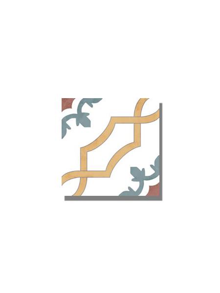 Pavimento imitación hidráulico barraca Pirena 20x20 cm. Diseños del pasado con tecnología del presente, azulejo para paredes y suelos vintage.
