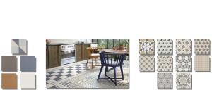 Pavimento imitación hidráulico Classic 20x20 cm. Diseños del pasado con tecnología del presente, azulejo para paredes y suelos vintage.