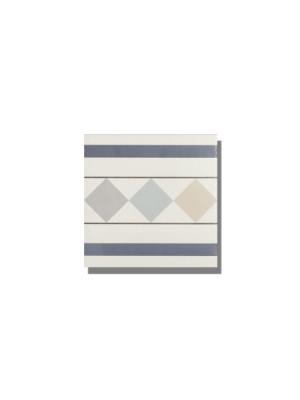 Pavimento imitación hidráulico Classic cenefa 20x20 cm. Diseños del pasado con tecnología del presente, azulejo para paredes y suelos vintage.