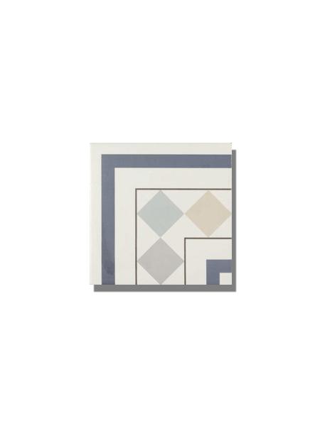 Pavimento imitación hidráulico Classic esquina 20x20 cm. Diseños del pasado con tecnología del presente, azulejo para paredes y suelos vintage.