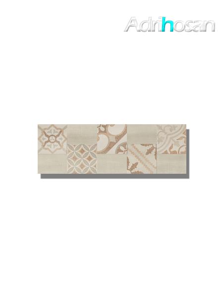 Revestimiento decor Moma beige mate 20x60 cm (1.08 m2/cj)