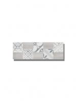 Revestimiento Decor Moma pearl mate 20x60 cm. Una serie de azulejo para paredes imitación cemento altamente destonificado con decorado hidráulico.