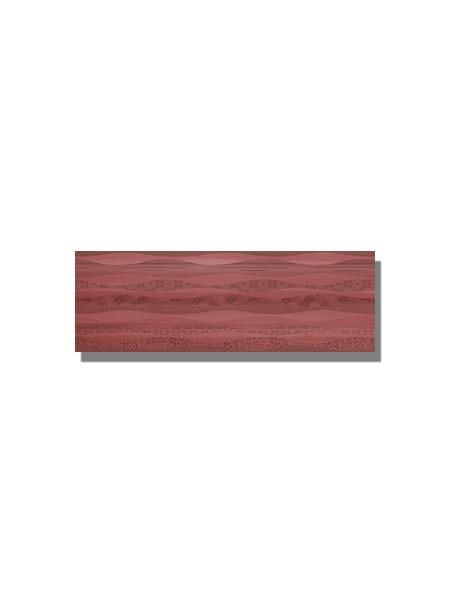 Revestimiento decor Pleasure cherry brillo 20 x 60 cm. Una serie de azulejos para paredes de colores cálidos para cualquier diseño de tu cocina o baño.
