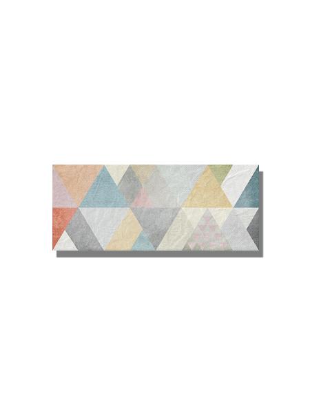 Revestimiento Gala decor mate 25x60 cm. Una serie de azulejo para paredes imitación cemento texturizado con decoración con formas geométricas.