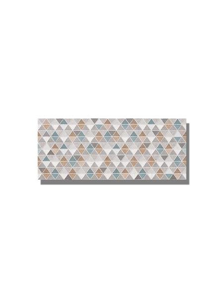 Revestimiento Ibiza Decor mate 25x60 cm. Una serie de azulejo para paredes imitación cemento texturizado con decoración con formas geométricas.
