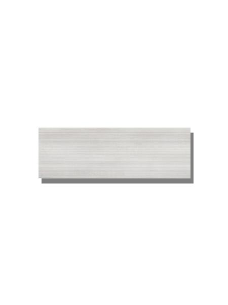 Revestimiento Moma pearl mate 20x60 cm. Una serie de azulejo para paredes imitación cemento altamente destonificado con decorado hidráulico.