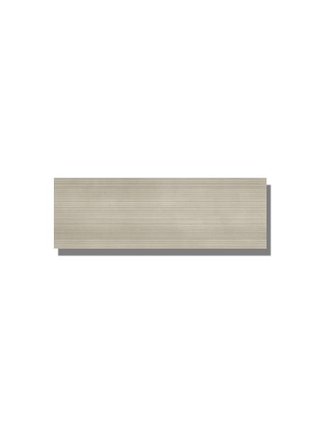 Revestimiento Moma vison mate 20x60 cm. Una serie de azulejo para paredes imitación cemento altamente destonificado con decorado hidráulico.
