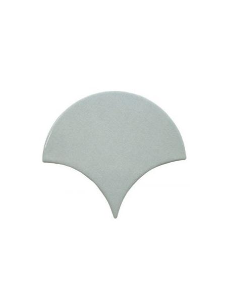 Azulejo escama de pez Aqua 15x14,2 cm pasta blanca. Un revestimiento de pasta blanca de alta calidad para decoraciones estilo vintage o retro.