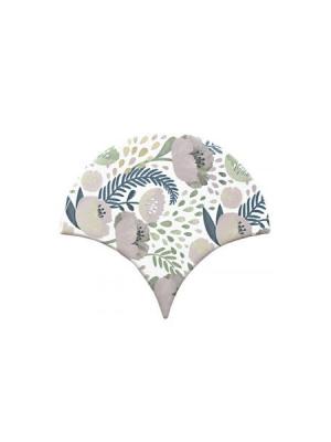 Azulejo escama de pez decor 1 15x14,2 cm pasta blanca. Un revestimiento de pasta blanca de alta calidad para decoraciones estilo vintage o retro.