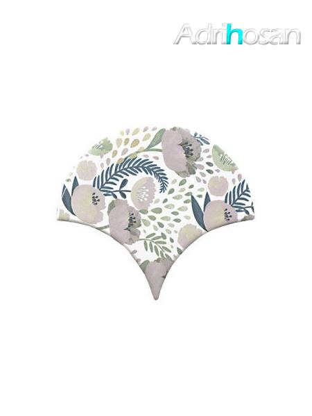 Azulejo escama de pez Jazz Decor 1 15x14,2 cm pasta blanca (Venta por piezas)