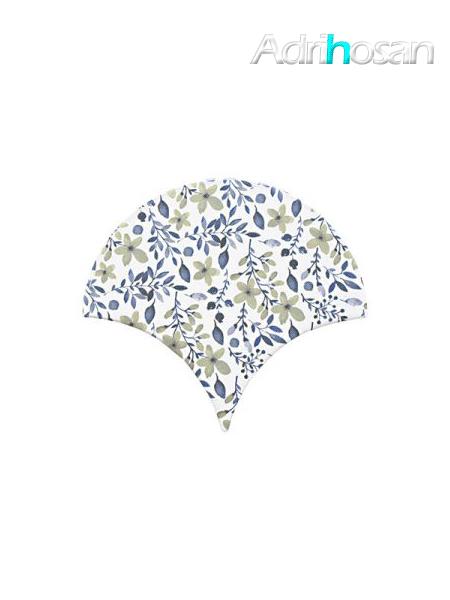 Azulejo escama de pez Jazz Decor 10 15x14,2 cm pasta blanca (Venta por piezas)