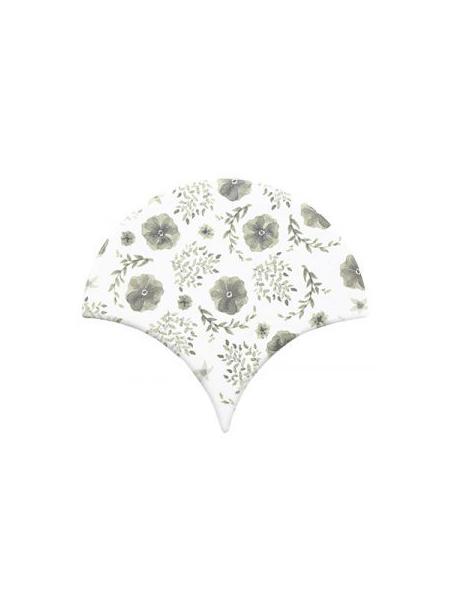 Azulejo escama de pez decor 11 15x14,2 cm pasta blanca. Un revestimiento de pasta blanca de alta calidad para decoraciones estilo vintage o retro.