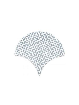 Azulejo escama de pez decor 12 15x14,2 cm pasta blanca. Un revestimiento de pasta blanca de alta calidad para decoraciones estilo vintage o retro.