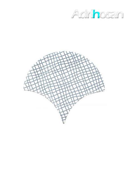 Azulejo escama de pez Jazz Decor 12 15x14,2 cm pasta blanca (Venta por piezas)