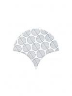 Azulejo escama de pez decor 13 15x14,2 cm pasta blanca. Un revestimiento de pasta blanca de alta calidad para decoraciones estilo vintage o retro.