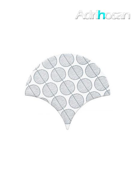 Azulejo escama de pez Jazz Decor 13 15x14,2 cm pasta blanca (Venta por piezas)
