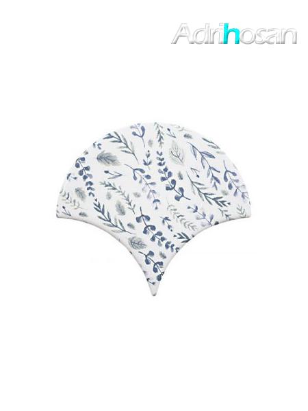 Azulejo escama de pez Jazz Decor 3 15x14,2 cm pasta blanca (Venta por piezas)